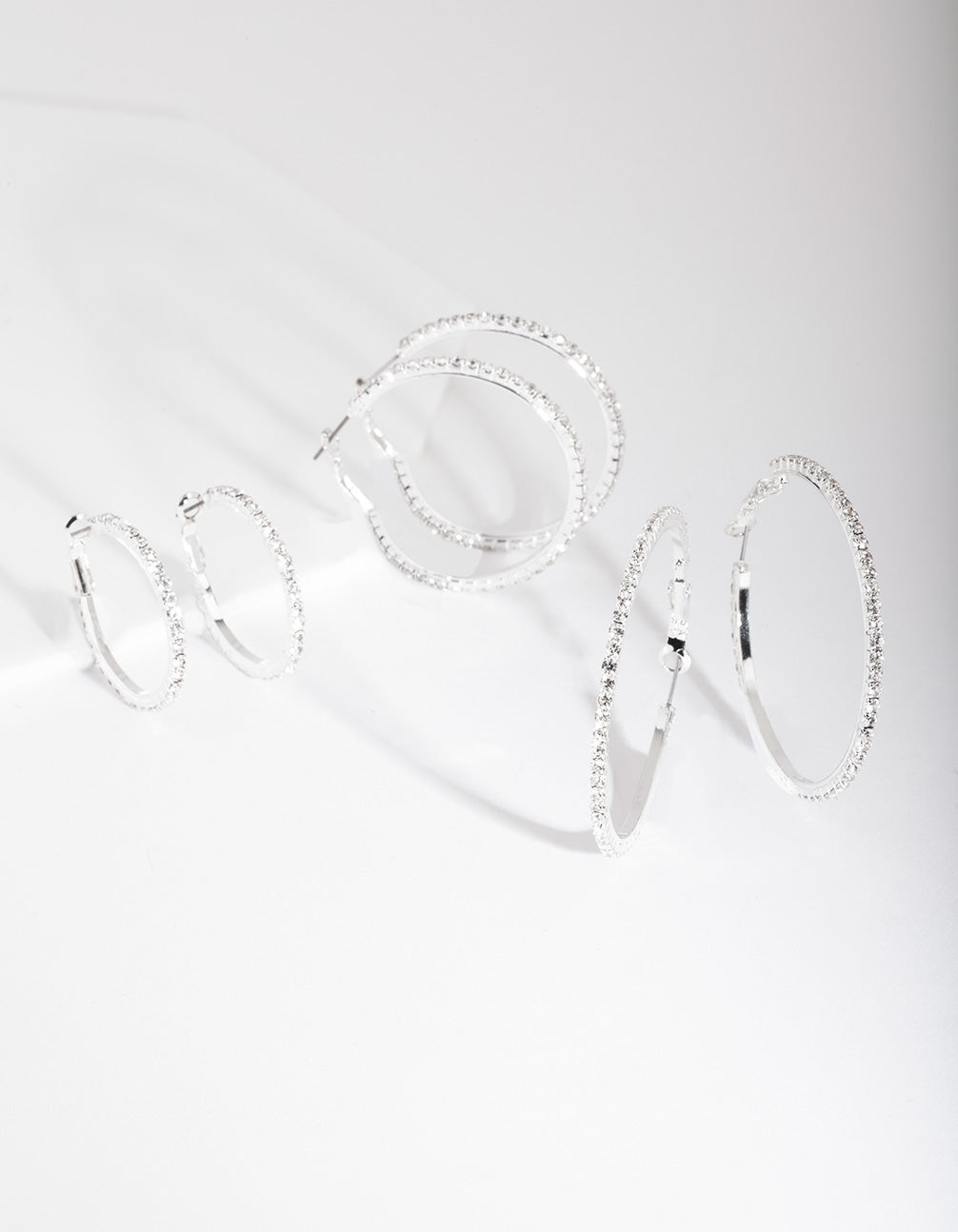Silver Diamante Multi Hoop Earring Pack
