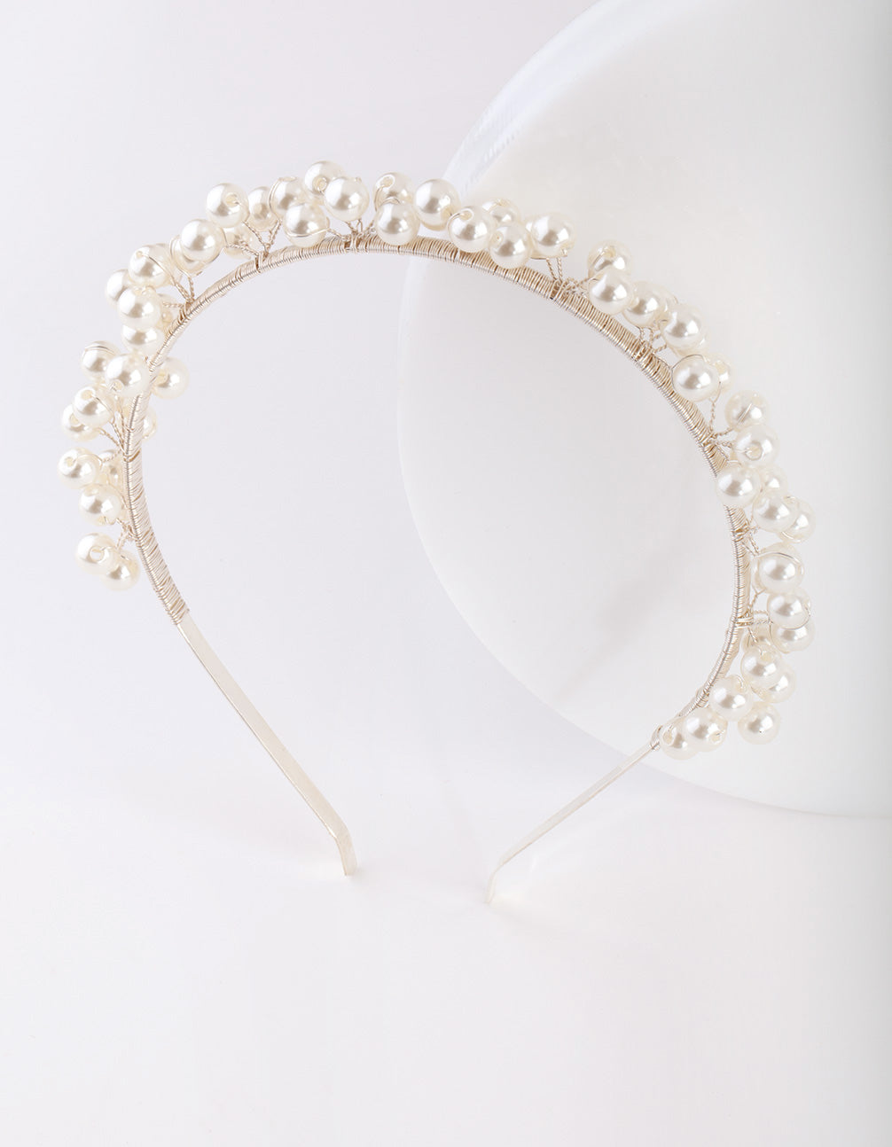 Silver Scattered Pearl Headband