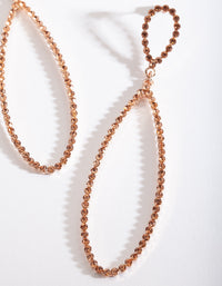 Rose Gold Large Diamante Teardrop Earring - link has visual effect only