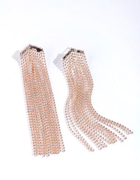 Rose Gold Chain Tassel Earring - link has visual effect only