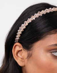 Silver Neutral Glass Bead Headband - link has visual effect only