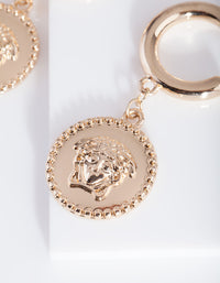 Gold Goddess Hoop Earring - link has visual effect only