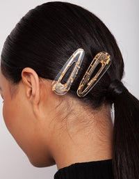 Gold Speckled Hair Clip 2 Pack - link has visual effect only