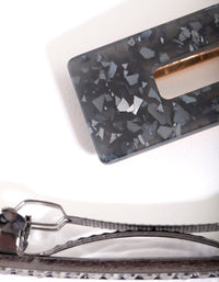 Black Sequin Diamante Hair Clip Pack - link has visual effect only