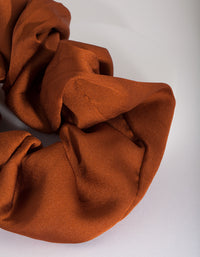 Rust Satin Oversized Scrunchie - link has visual effect only