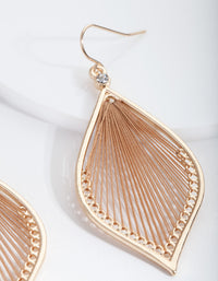 Brown Drop Earrings - link has visual effect only