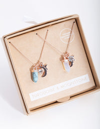 Rose Gold Celestial Necklace 2 Pack - link has visual effect only