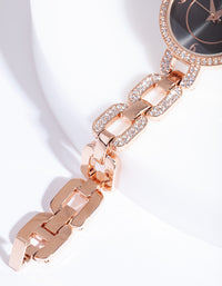 Rose Gold Chain Link Watch