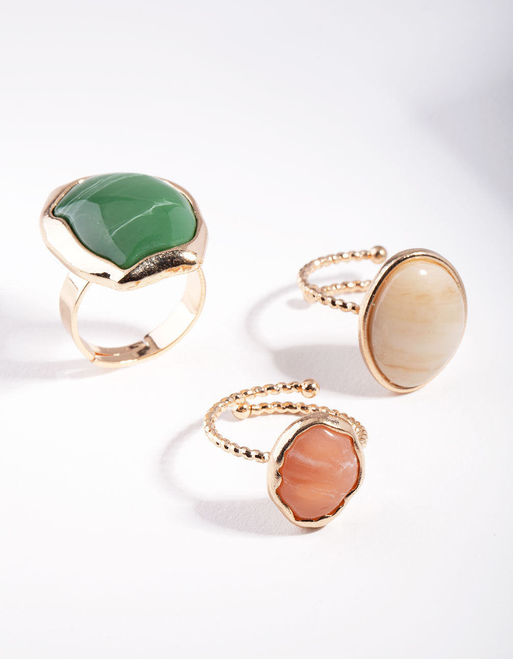 Gold Neutral Green 3 Ring Pack
