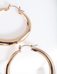 Gold Circle Hoop Earring