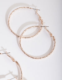 Rose Gold Textured Hoop 3 Pack - link has visual effect only