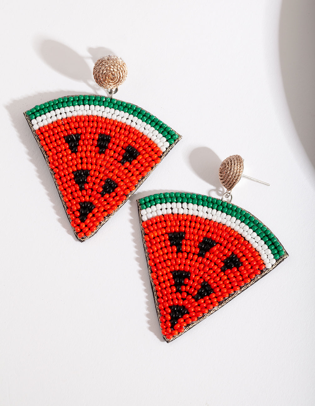 Red Watermelon Slice Earring