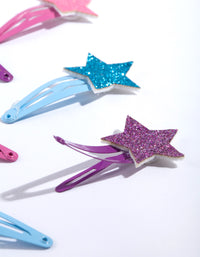 Multi-Colour Glitter Star Clip 6 Pack - link has visual effect only