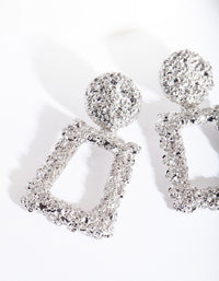 Silver Mini Geometric Earrings - link has visual effect only