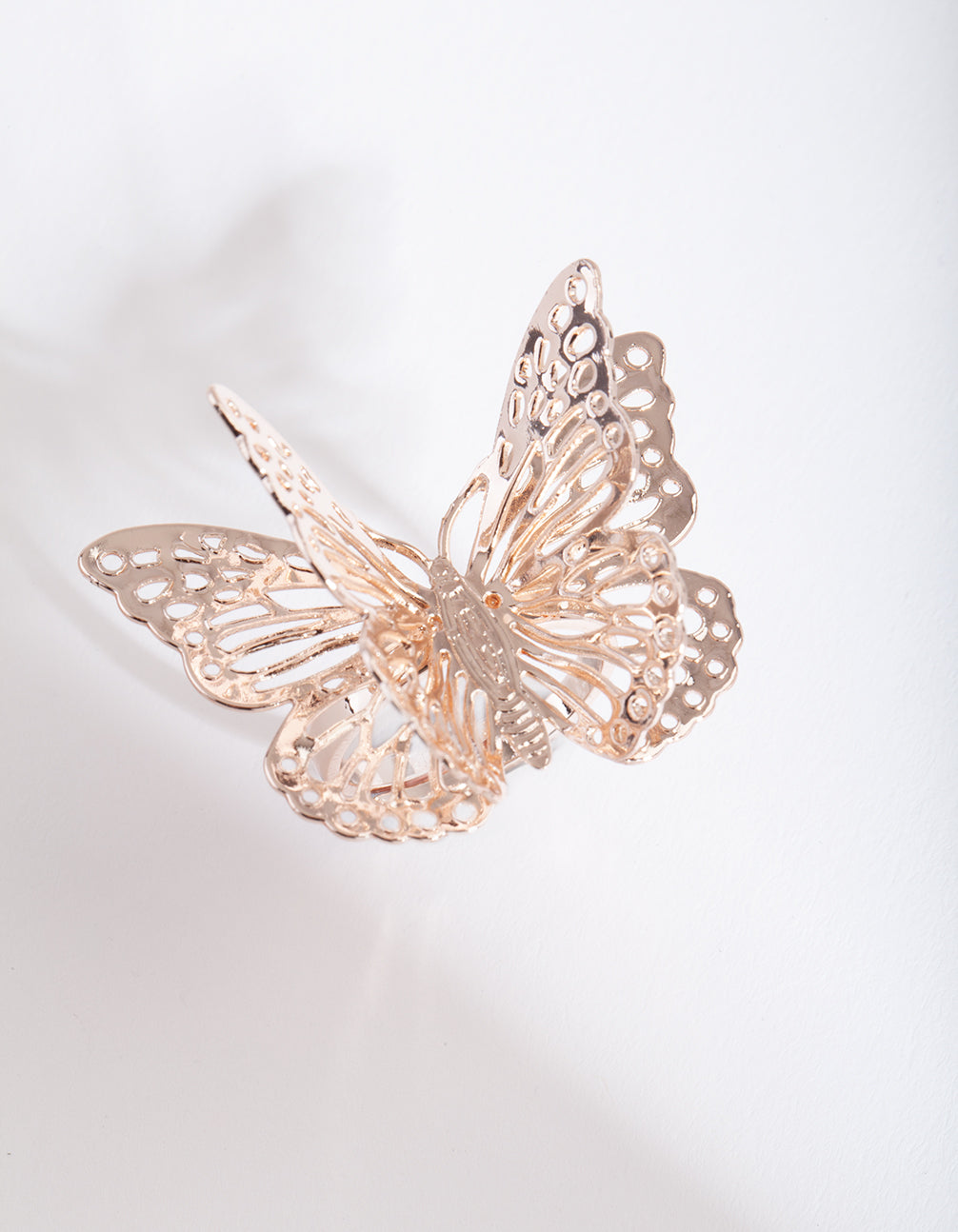 Rose Gold 3D Butterfly Ring