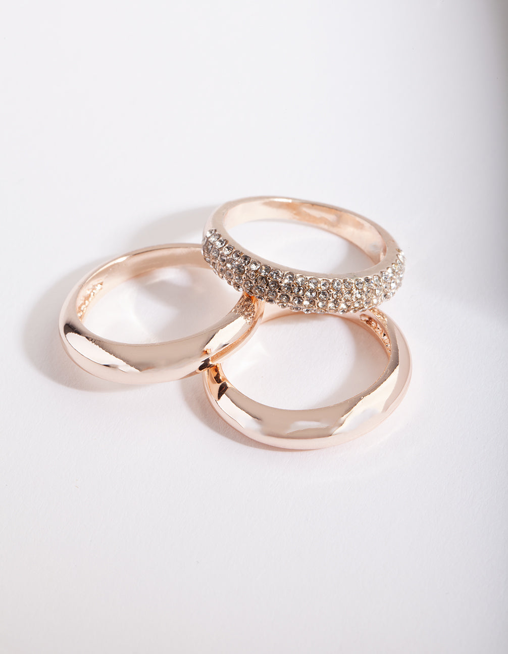 Rose Gold Layered Diamante Ring