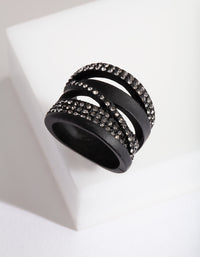 Black Layer Diamante Ring - link has visual effect only