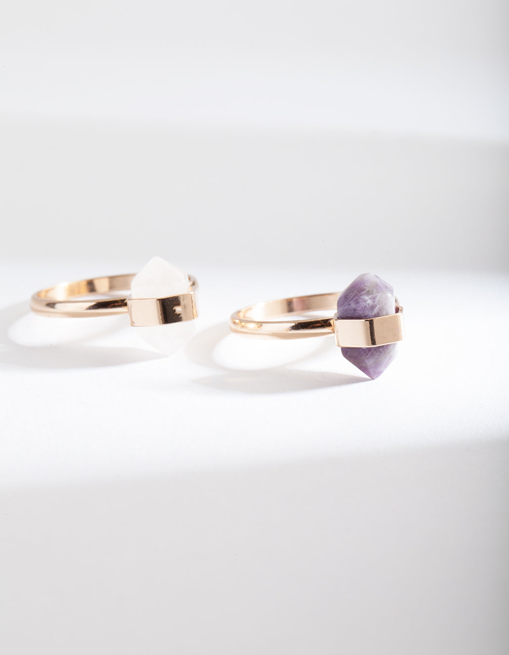 Semi-Precious Mini Shard Ring Stack