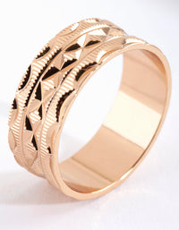 Gold Art Deco Ring - link has visual effect only