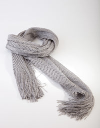 Silver Long Drape Scarf - link has visual effect only