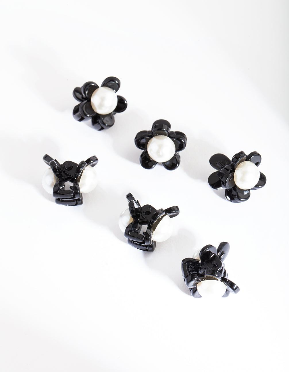 Pearl Flower Mini Clip 6 Pack
