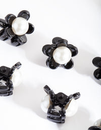 Pearl Flower Mini Clip 6 Pack - link has visual effect only