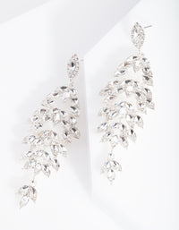 Silver Navette Stone Drop Earring - link has visual effect only