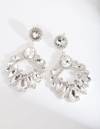 Silver Statement Gem Drop Earring - link has visual effect only