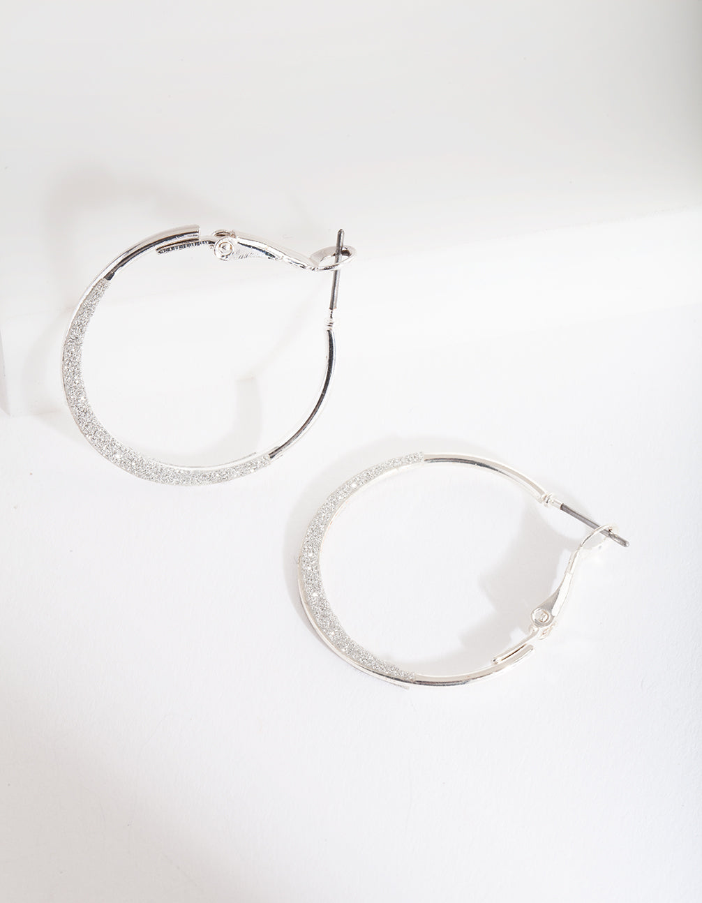Silver Mini Flat Edge Hoop Earring