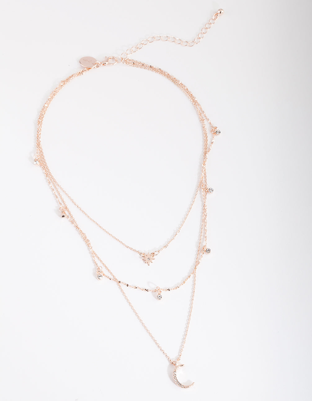 Rose Gold Celestial Layered Necklace