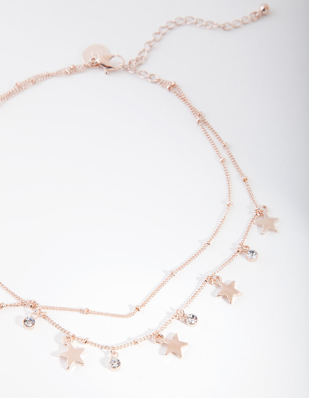 Rose Gold Star Two Row Choker
