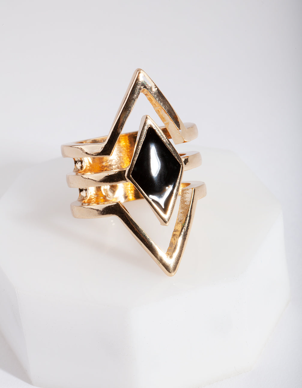 Gold Diamond Shape Ring