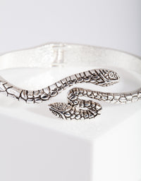 Antique Silver Snake Bangle - link has visual effect only