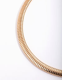 Gold Single Row Twist Choker - link has visual effect only