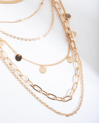 Gold Mixed Chain Necklace - link has visual effect only