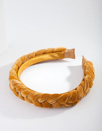 Mustard Velvet Headband - link has visual effect only