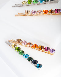 Rainbow Gem Hair Clip Pack
