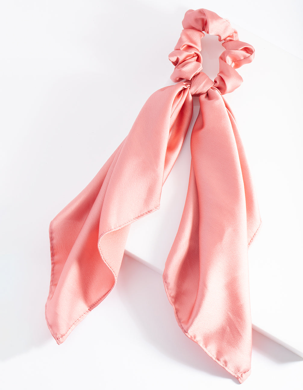 Blush Satin Scarf Scrunchie