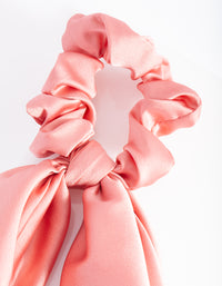 Blush Satin Scarf Scrunchie - link has visual effect only
