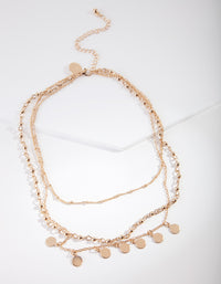 Gold Multi Chain Choker - link has visual effect only