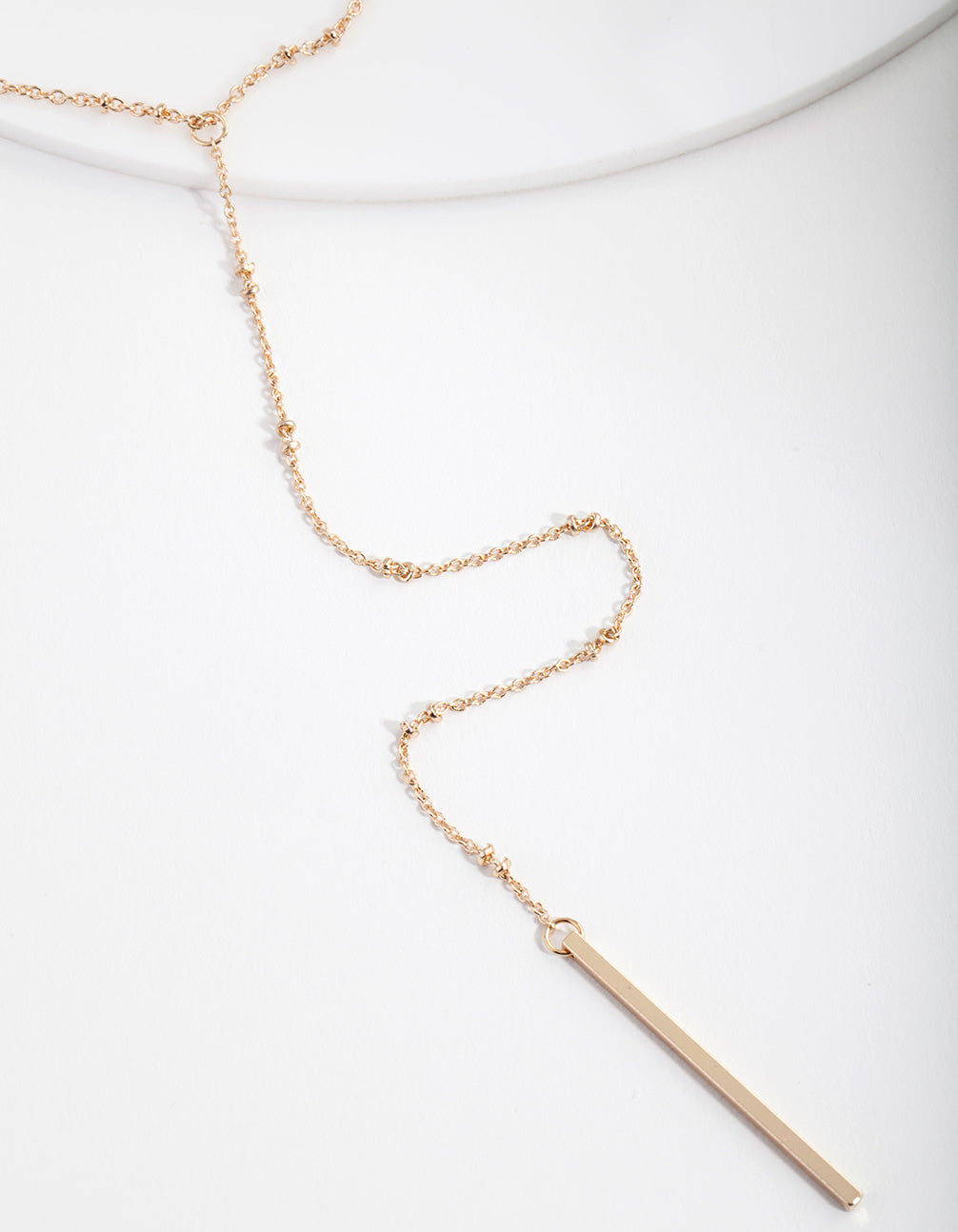 Gold Fine Chain Choker Necklace