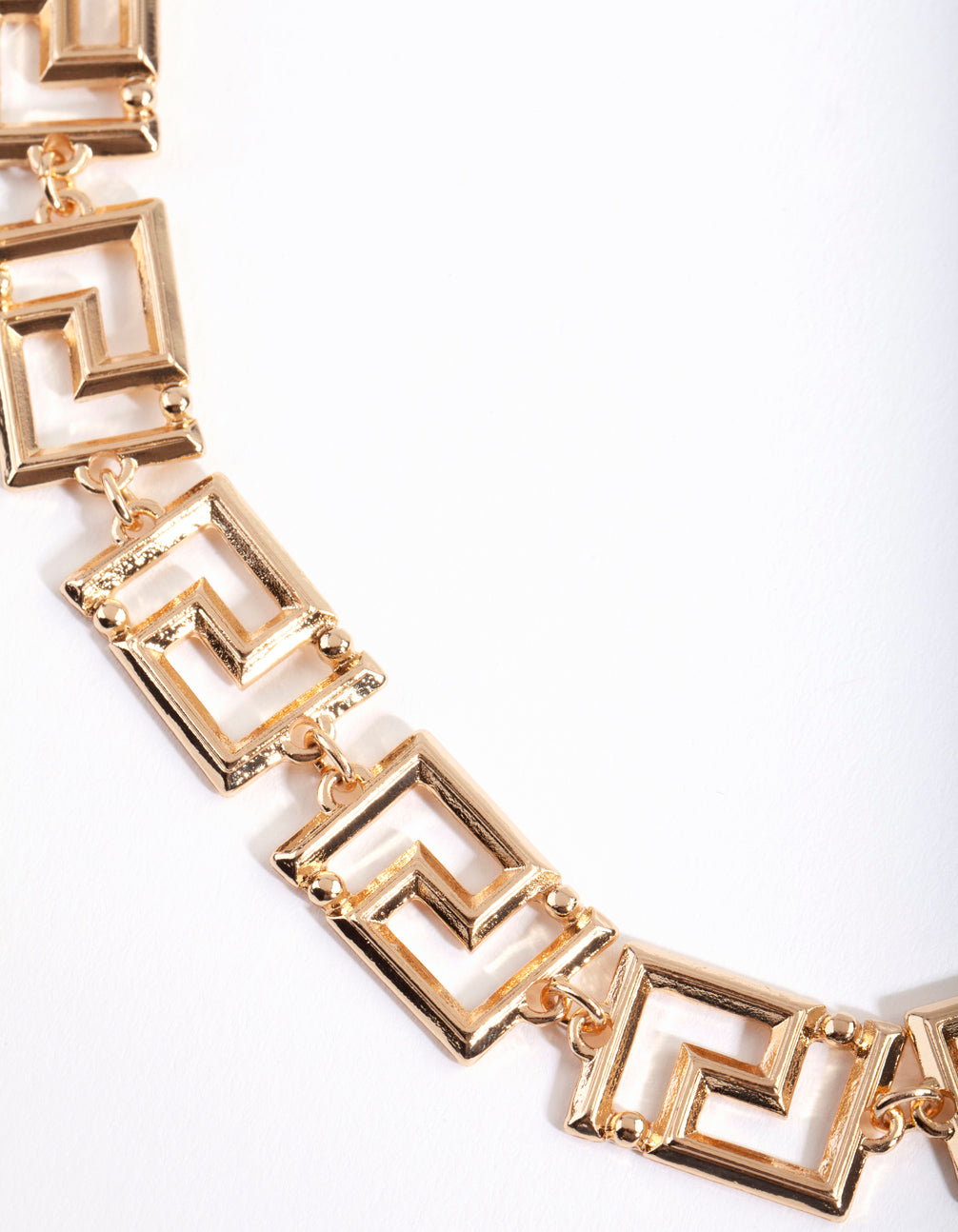Gold Maze Chain Necklace