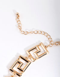 Gold Maze Chain Necklace - link has visual effect only