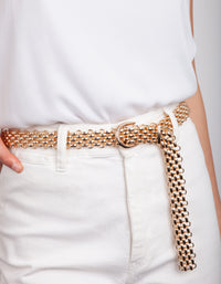 Gold Woven Chain Belt - link has visual effect only