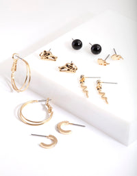Gold Animal Instincts Earring Pack - link has visual effect only