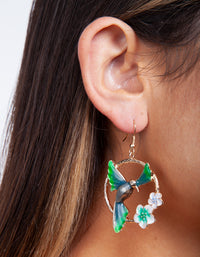 Midnight Wings Out Bird Earring - link has visual effect only