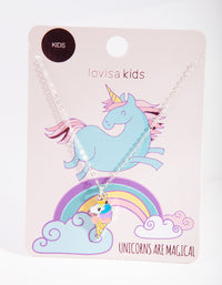 Silver Unicorn Ice Cream Necklace - link has visual effect only