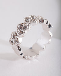 Silver Heart Diamante Ring - link has visual effect only