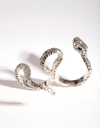 Rhodium Multi Finger Snake Ring - link has visual effect only