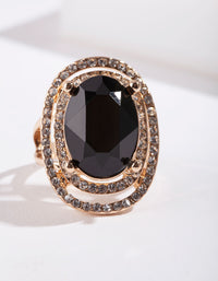 Black Gold Oval Ring - link has visual effect only
